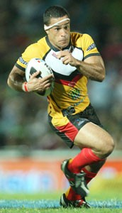 Paul Aiton in action for Papua New Guinea