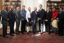 Prince of Wales meets World Cup stars