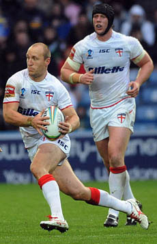 Carl Ablett carries the ball for England