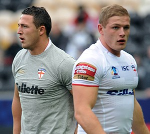 The Burgess brothers Sam (left) and George (right) in England training. ©RLphotos.com