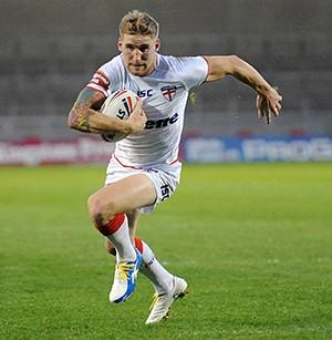 Sam Tomkins in action for England. ©RLphotos.com