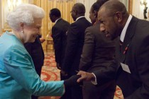 PNG star Menzie Yere meets The Queen