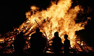 McShane's favourite night of the year - November 5th. Pork pies, warm clothes, and fireworks. ©Guardian