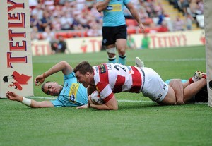 Scott Taylor in action for Wigan Warriors in 2013. ©RLphotos