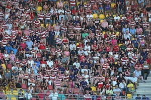 Wigan Warriors fans out in force last year. ©RLphotos