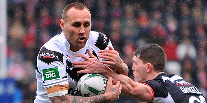 Gareth Hock in his Widnes days. ©RLphotos