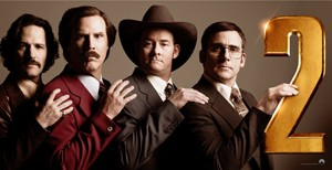 Walmsley enjoyed Anchorman 2 but thought it was 'random'.