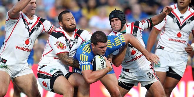 Match report: Eels steal Tomkins' thunder in NRL opener