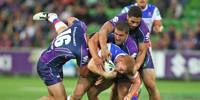 The tackle that looks to have ended Alex McKinnon's career. ©Action