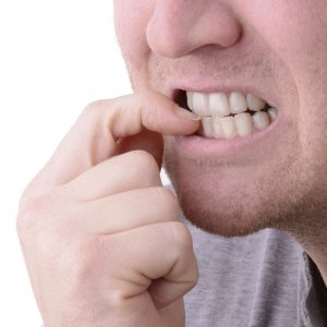 O'Loughlin bites his nails - and spits them! ©ThinkStock