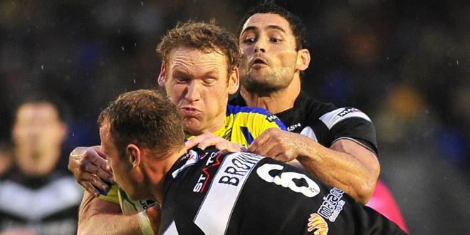Joel in action against Widnes Vikings. ©RLPhotos
