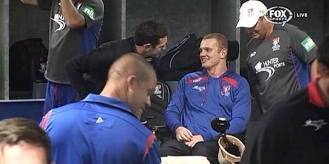 Alex McKinnon surprises Newcastle team-mates