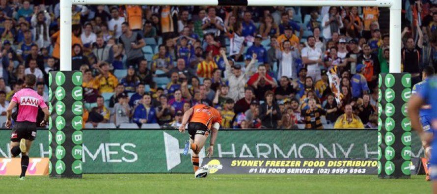 Match report: Parramatta Eels 18-21 Wests Tigers