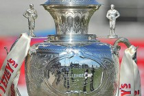Challenge Cup on display at All Golds tie