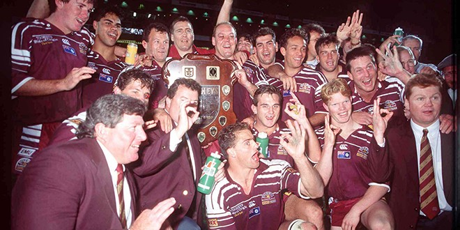 Queensland celebrate in 1995
