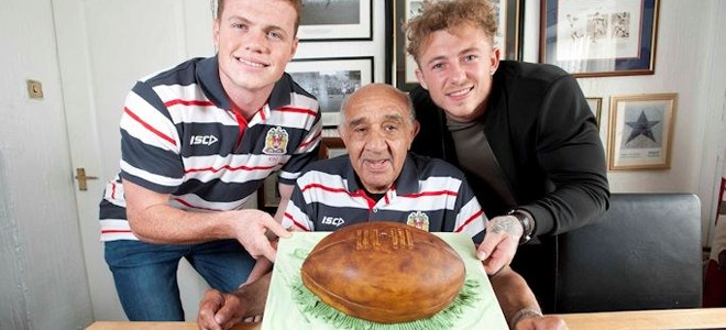 Burgess and Charnley celebrate Boston's 80th birthday