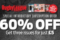 Rugby League World 3 issues for £5 Offer