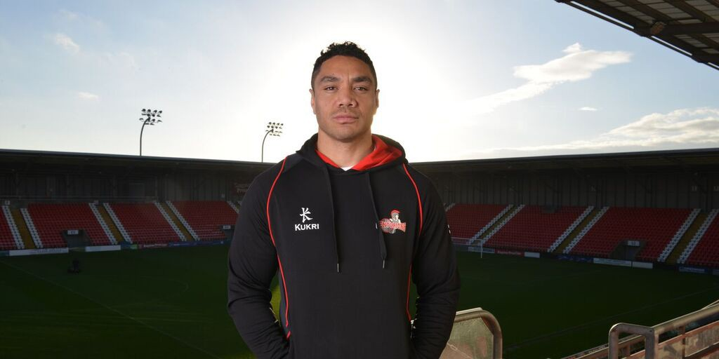 Willie Tonga dons his new colours at LSV. Credit: Paul McCarthy