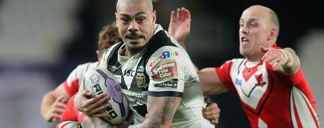 Manu on the trophy hunt with Hull FC