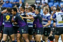 Melbourne overcome Canterbury in stormy opening-round victory