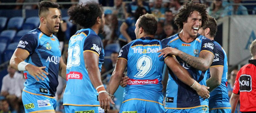 Titans revive play-off hopes with big win against Sharks